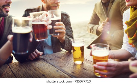 Friends having beers