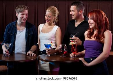 Friends having fun at a nightclub