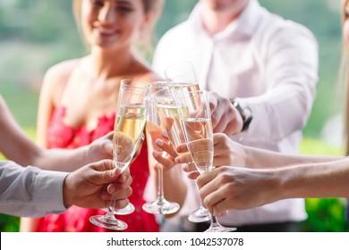 Friends having a toast