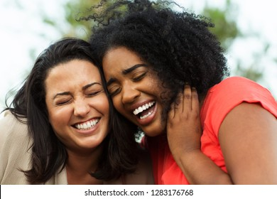 Friends laughing having fun.