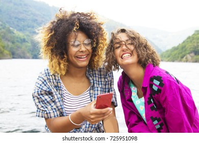 friends with mobile phone