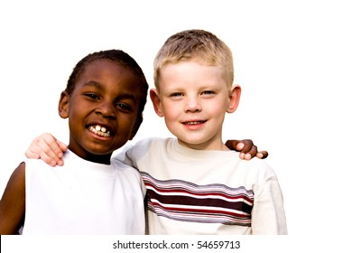 friends on white background