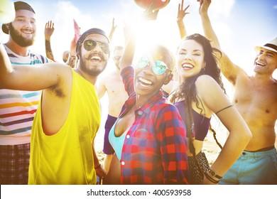 Friends Summer Beach Party Festival Concept