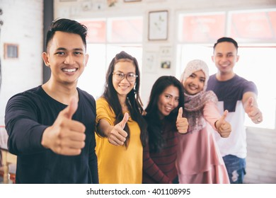 Friends Thumbs up Togetherness Fun Concept