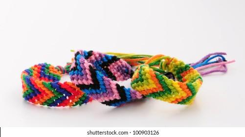 Friendship bracelets, chevron or V pattern