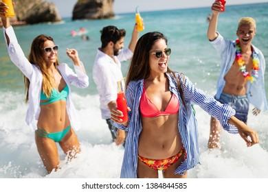 Friendship freedom beach fun summer vacation concept
