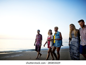 Friendship Freedom Beach Summer Holiday Concept