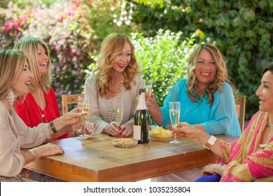 friendship, group of women celebrating friends