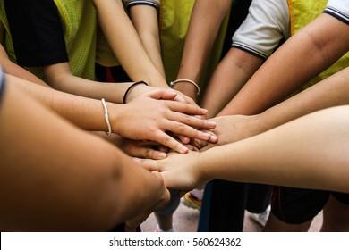 Friendship Happiness Leisure Partnership Team Concept