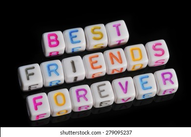 Friendship Term with Black Background - Best Friends Forever - BFF