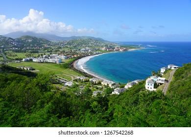 Frigate Bay beach in St Kitts, Saint Kitts and Nevis
