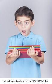 Frightened little school kid