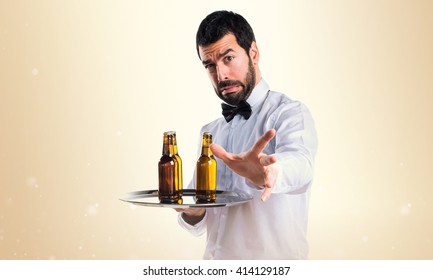 Frightened waiter