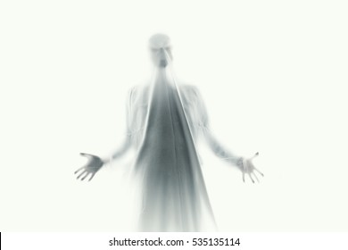 frightening ghost in a white sheet nightmare