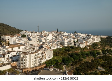 Frigiliana hilltopp old town with its whitewashed houses, Malaga, Spain