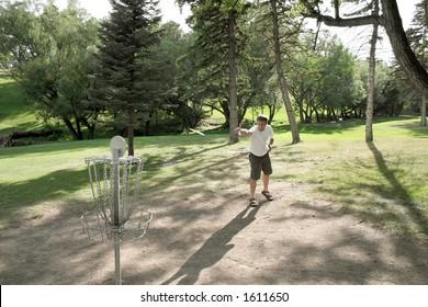 Frisbee Golf at Pioneer Park. Billings, Montana.