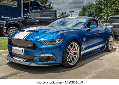 Frisco, Texas USA , TEXAS - June 07, 2019: Media Day at Auto Nation Ford. 50th anniversary Shelby Mustang GT500 Super Snake