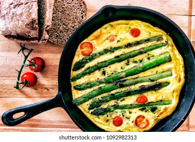 Frittata with Grilled Asparagus