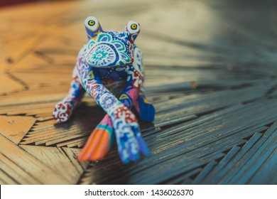 Frog Alebrije: Mexican Folk Art Craft
