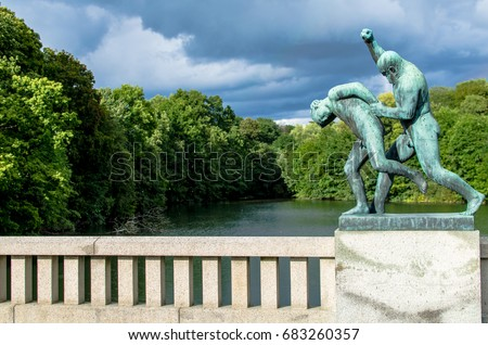 FROGNER PARK OSLO NORWAY AUGUST 23 Stock Photo (Edit Now) 683260357 ...
