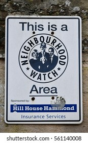 Frome, UK - January 5, 2017: View of a Neighbourhood Watch sign. The Neighbourhood Watch scheme in the UK is a community police partnership bringing people together in making their communities safer