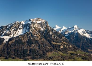 Fronalpstock, Swiss Mountain, view with Firtiggraetli