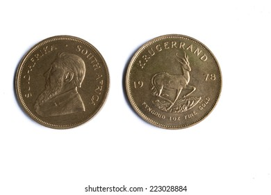 Front and Back of 1 oz Gold Bullion Krugerrand