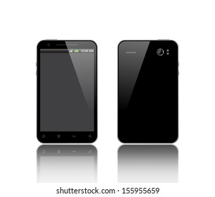front and back side of the smart phone
