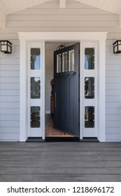 Front black door that is open