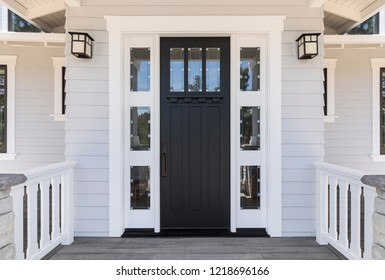 Front black door that is secured