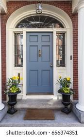 Front blue door