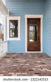 Front brown door, vertical orientation