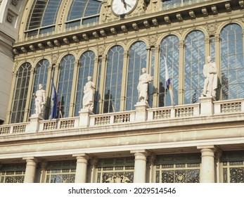 Front of Budapest Keleti railway station in Hungary