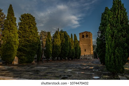 In front of Castello di San Giusto (Trieste)