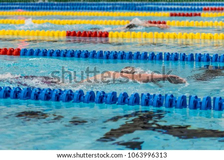 Front crawl nk games swimming pool stock photo edit now 1063996313