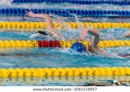 Front crawl nk games swimming pool stock photo edit now 1065158897