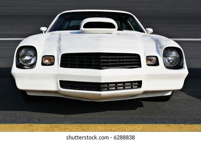 Front of customized 1970's model Camero