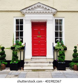 Front Door of a Beautiful Old English Town House