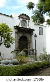 front door to the church