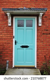 Front Door of an English Red Brick House