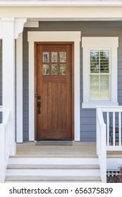 Front door, exterior view