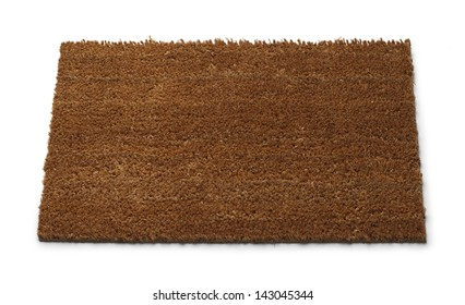 Front Door Mat with Copy Space Isolated on White Background.