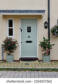 Front Door and Porch of a Beautiful English Town House