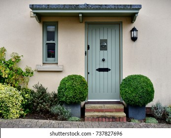 Front Door and Porch of an English Town House