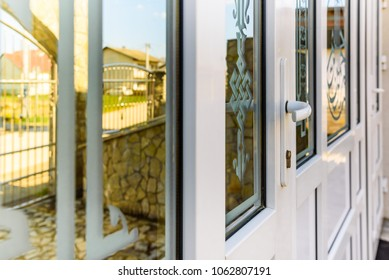front door pvc with glass