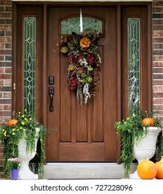 Front Door Ready for Autumn