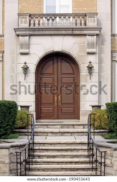 Front Door Stone Steps Stock Photo Edit Now 190453643