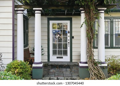 Front Door, Veranda and Porch of a Beautiful Old Upscale House