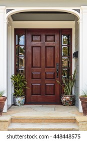 Front door, wide front door with an elegant entrance