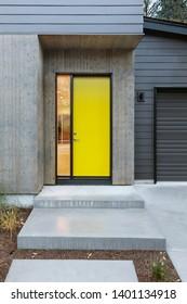 Front door, yellow front door